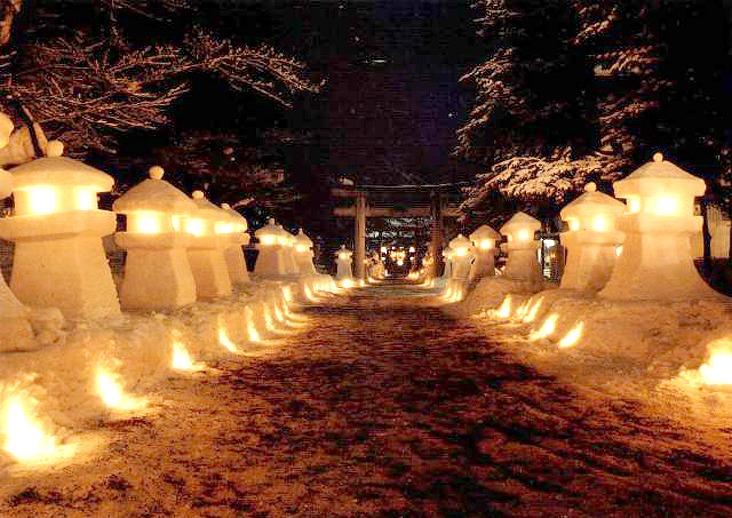 2015雪灯籠祭り(夜)